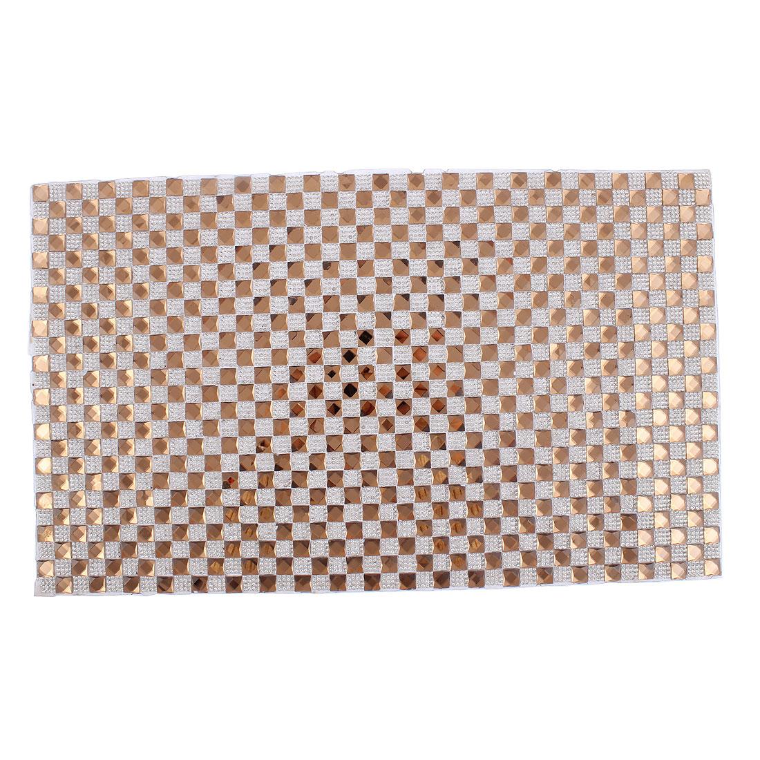 Shoes Handbags DIY Rhinestone Plate Sticker Decor 400 x 240mm Brown