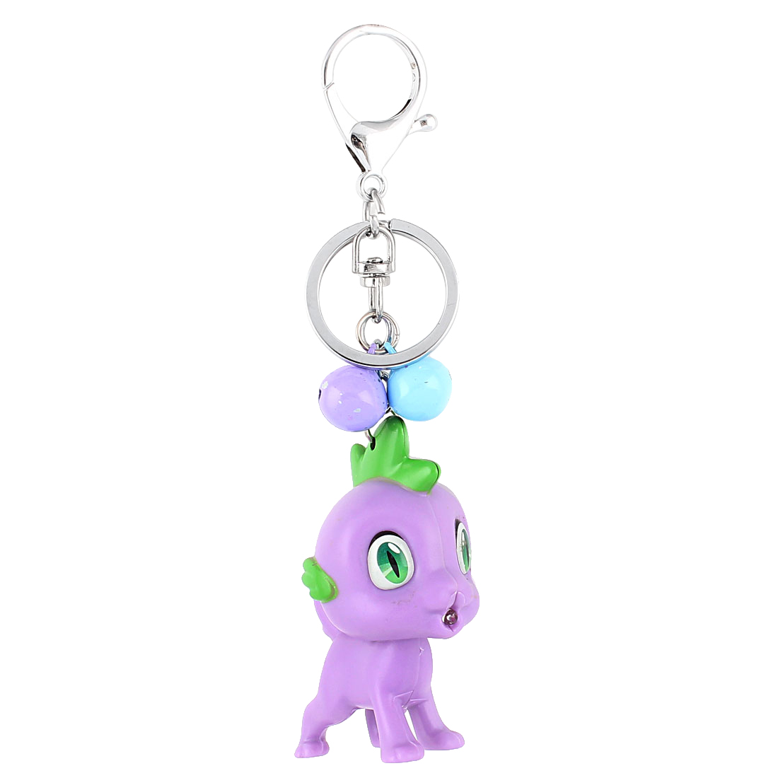 Kids Christmas Gift Bells Unicorn Pendant LED Flash Light Sound Keychain Purple