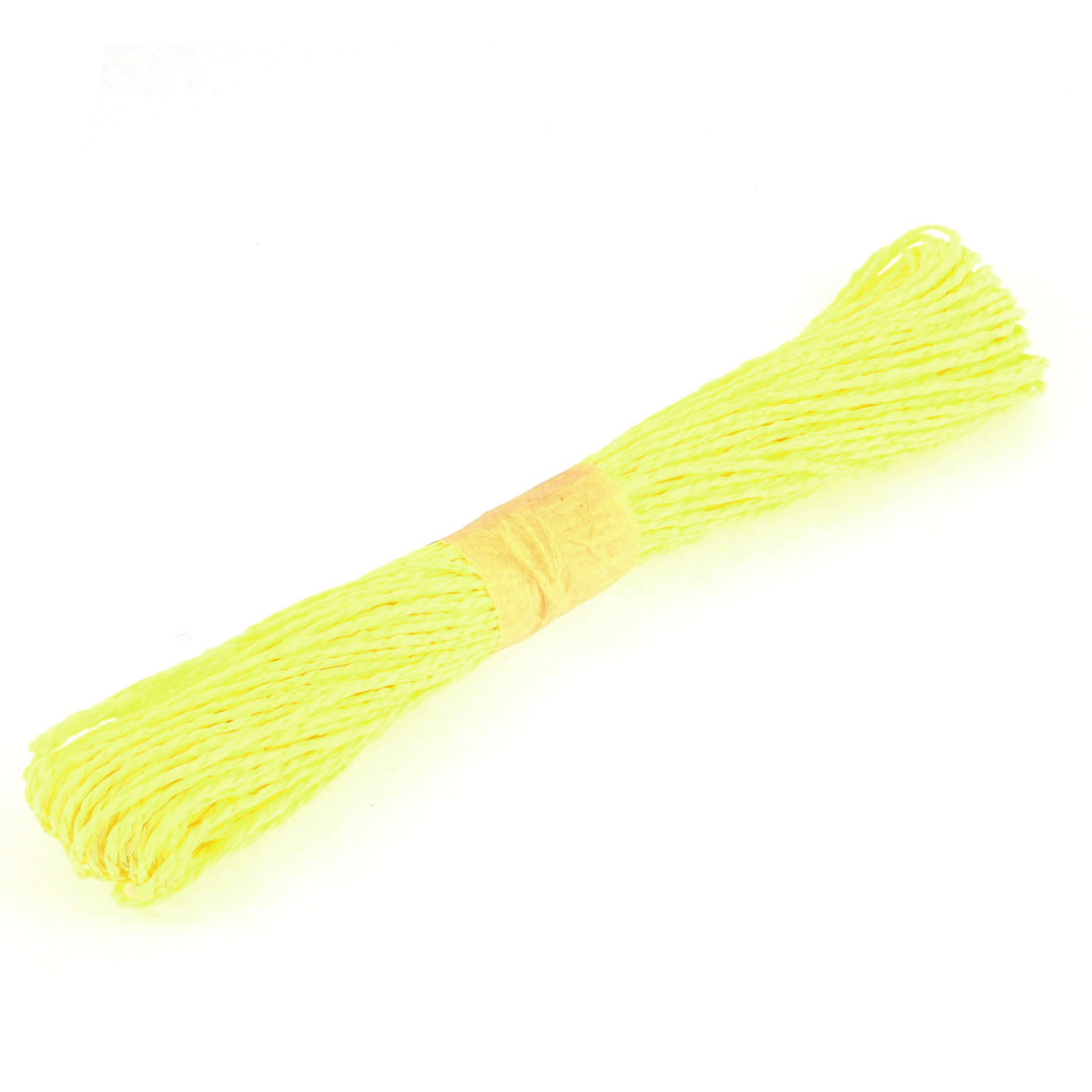 Paper Raffia Cord Ribbon Gift Wrap Craft Pack Rope Strings Light Yellow