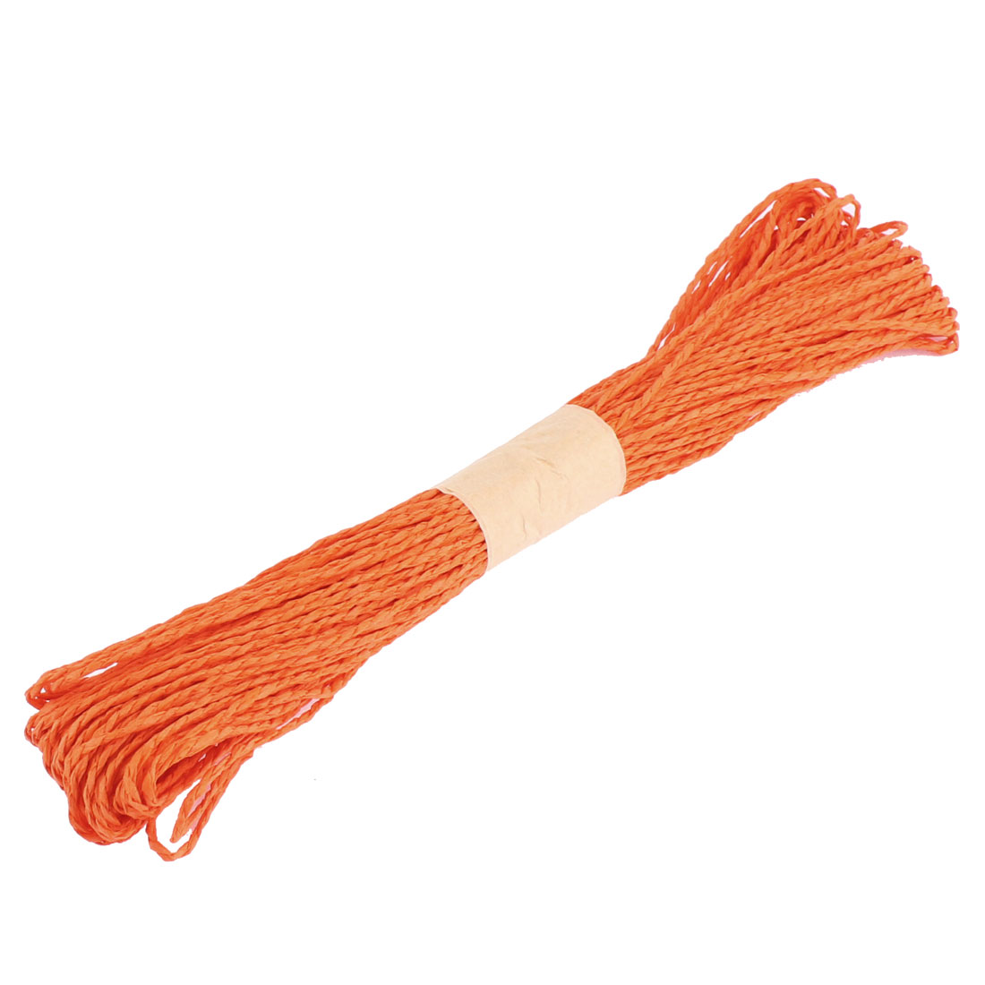 Paper Raffia Cord Ribbon Gift Wrap Craft Pack Rope Strings Orange