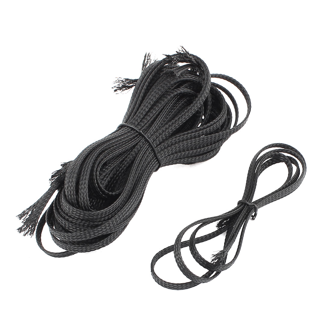 1M Length 5mm Width Nylon Braided Expandable Sleeving Cable Harness 12 Pcs