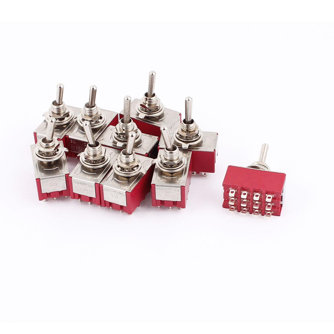 AC 250V/2A 125V/5A 12-Pin On/On 2 Position Miniature SPDT Toggle Switch 12 Pcs