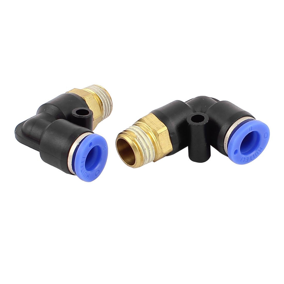 "1/4""PT Male Thread to 8mm Coupler 90 Degree Quick Push in Fittings 2 Pcs"