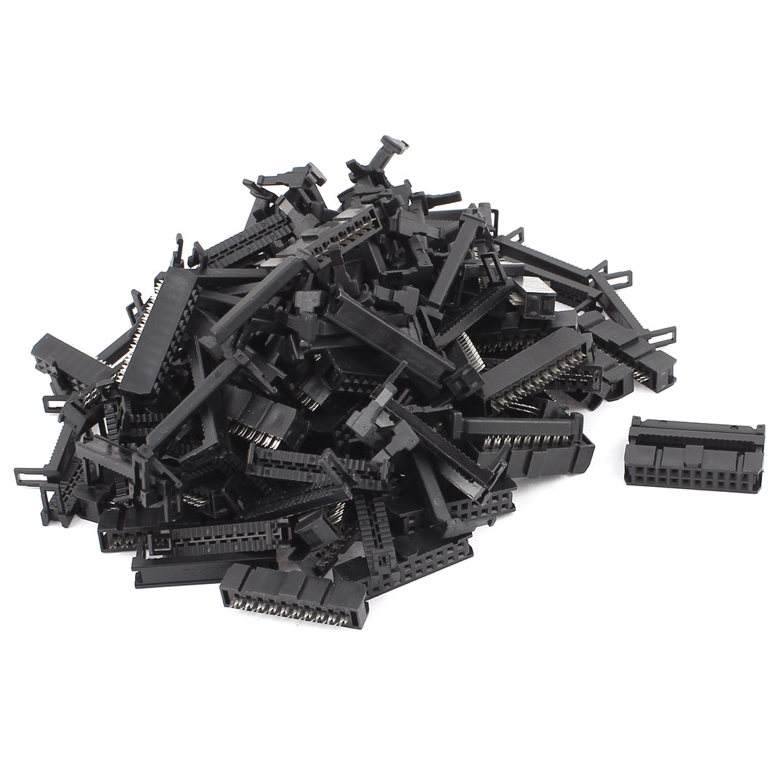 54 Pcs FC-20P 2x10 Pin Female Header IDC Cable Connector 2.54mm Pitch
