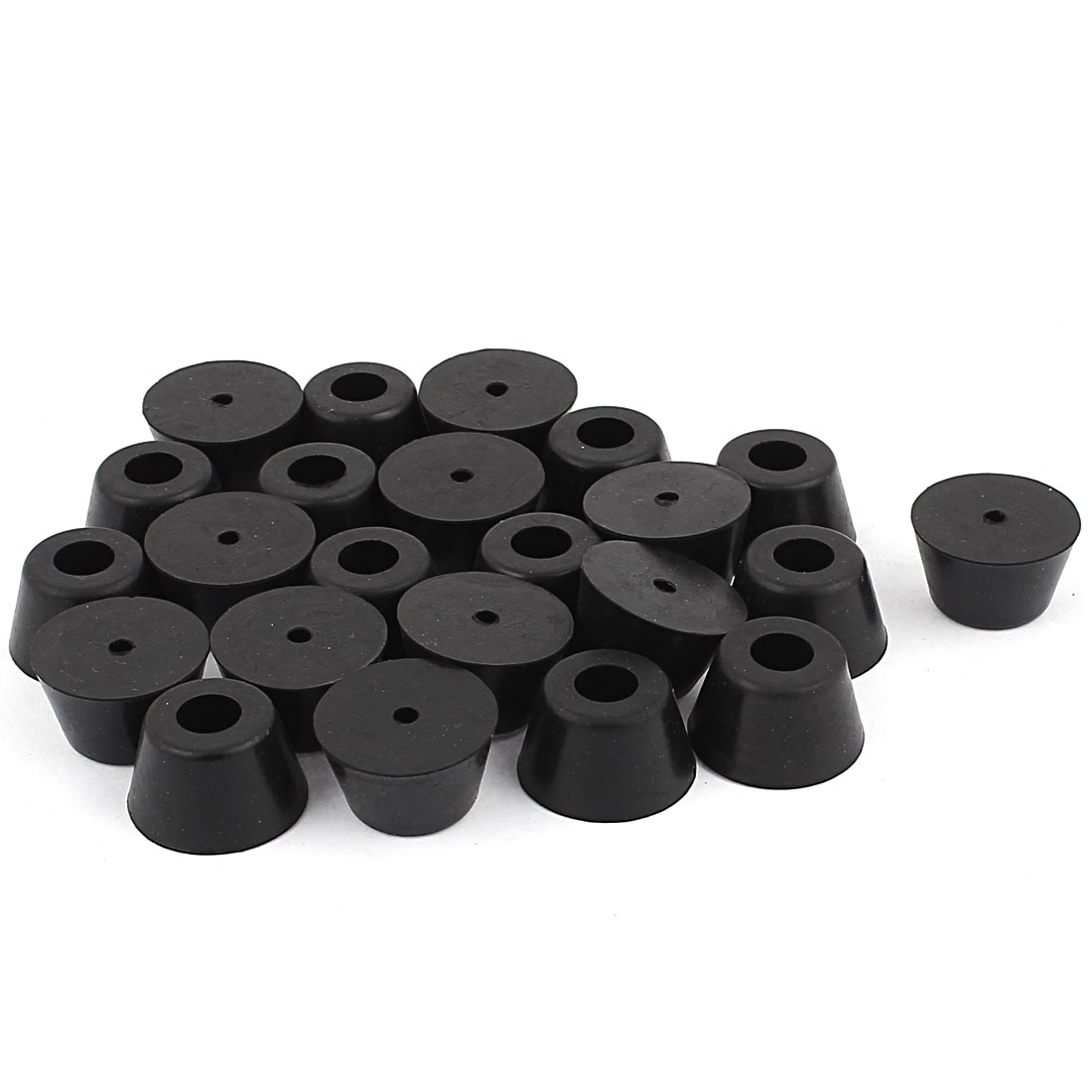 23Pcs XD2515 8 x 25 x 15mm Rubber Conical Shape Table Chair Leg Tips Foot Pad