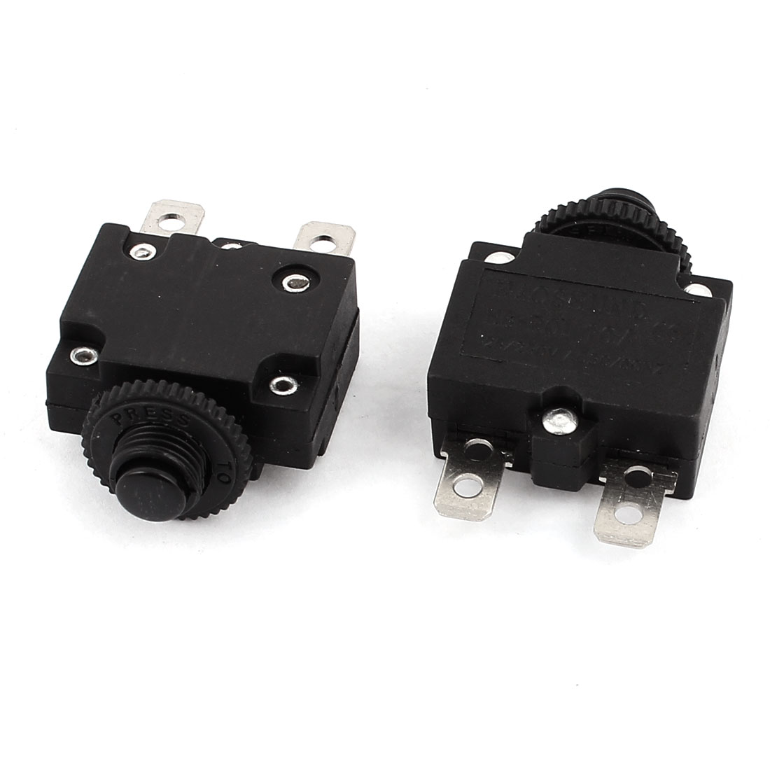 AC125V/250V 10A HS-R01 Air Compressor Overload Protection Circuit Breaker 2 Pcs