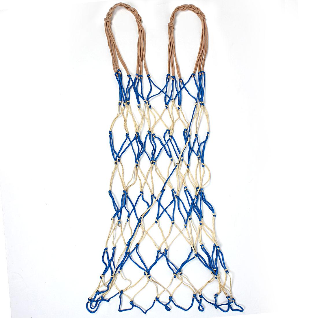 Nylon Net Bag Ball Carry Mesh Basketball Football Soccer Yellow&Blue