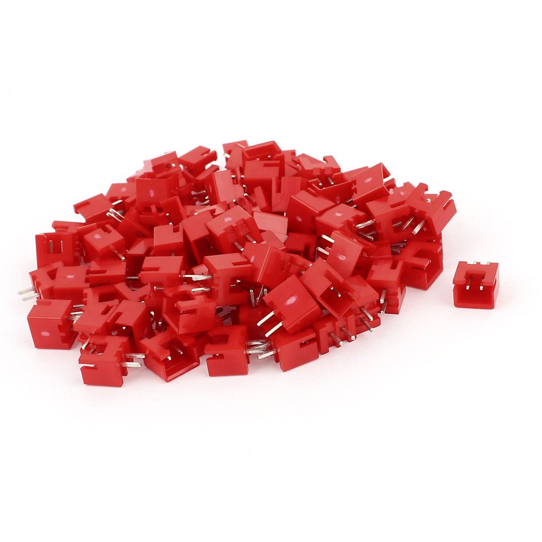 95 Pcs 2.54mm Pitch Straight 2pole PCB Pluggable Terminal Block Connectors Red
