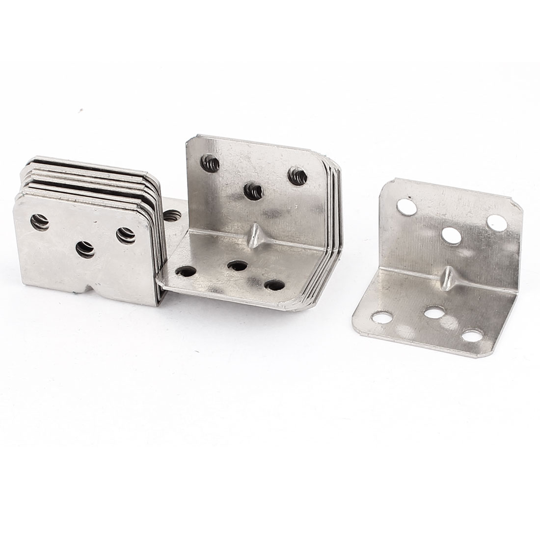 28x28x36mm 90 Degree Furniture Alloy Door Angle Bracket 16 Pcs Silver Tone