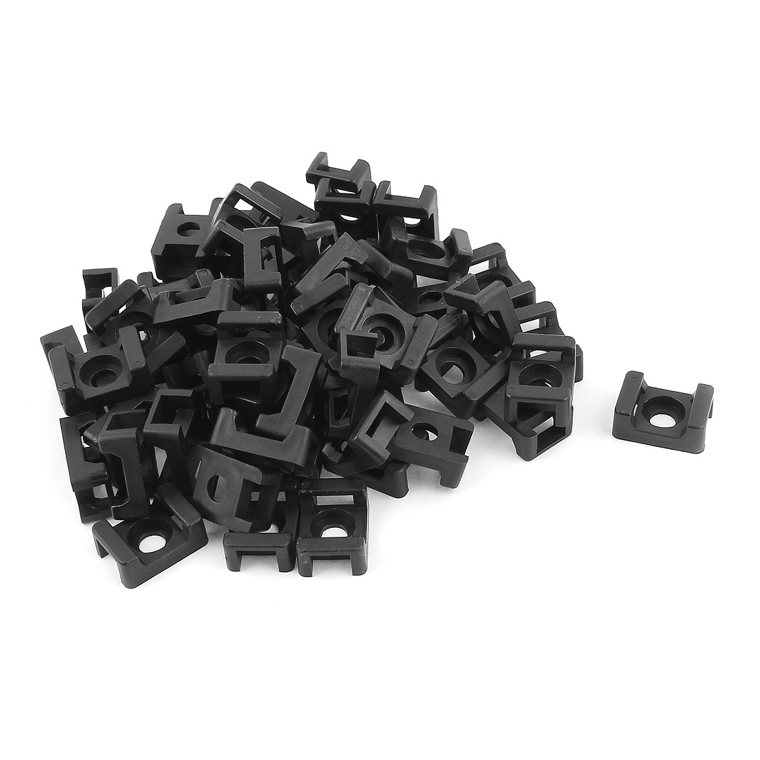 HC-2 Rectangle 9mm Width Cable Tie Mount Base Holder Fixing Saddle 60 Pcs