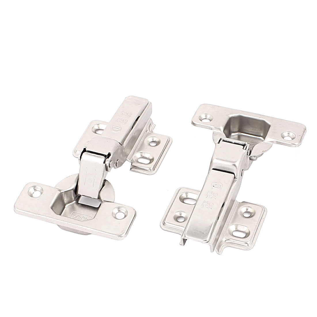 Kitchen Door Cabinet Self Closing Half Overlay Concealed Hinges Hardware 2 Pcs