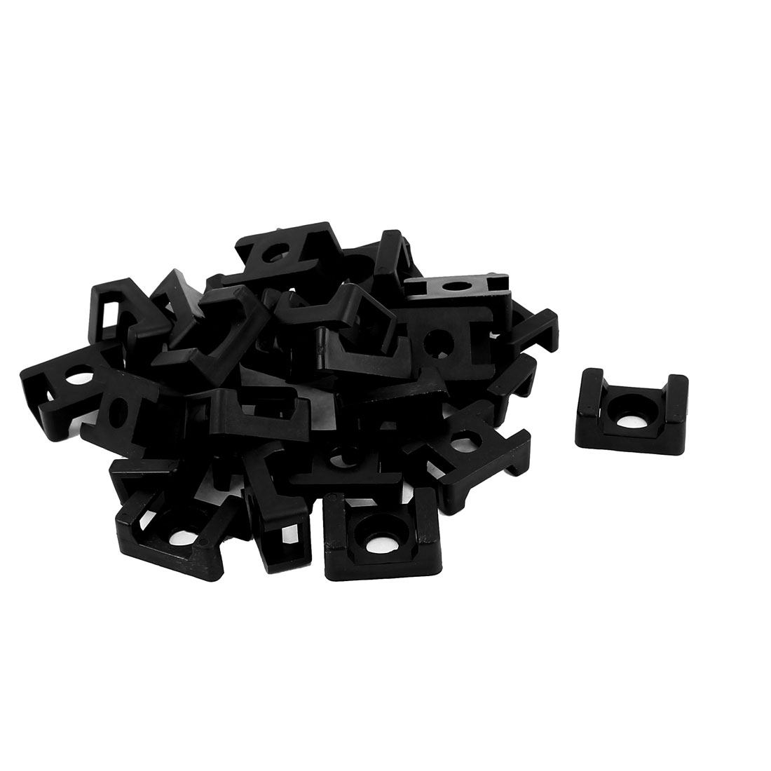 HC-2 Rectangle 9mm Width Cable Tie Mount Base Holder Fixing Saddle 30 Pcs