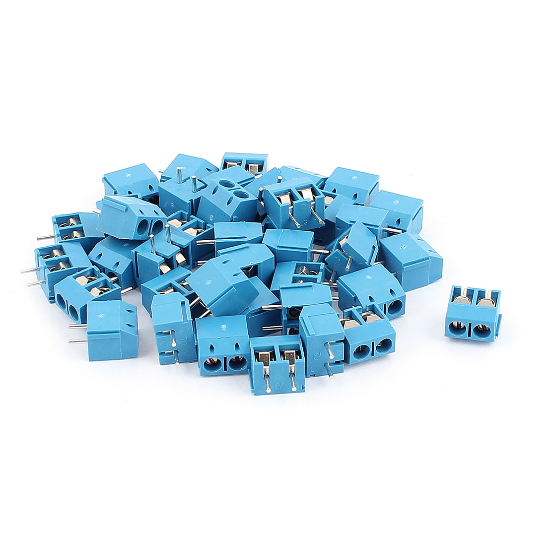 40Pcs AC 300V 16A KF301-5.0 2 Pins 5mm Pinch PCB Mounting Screw Terminal Block Connector