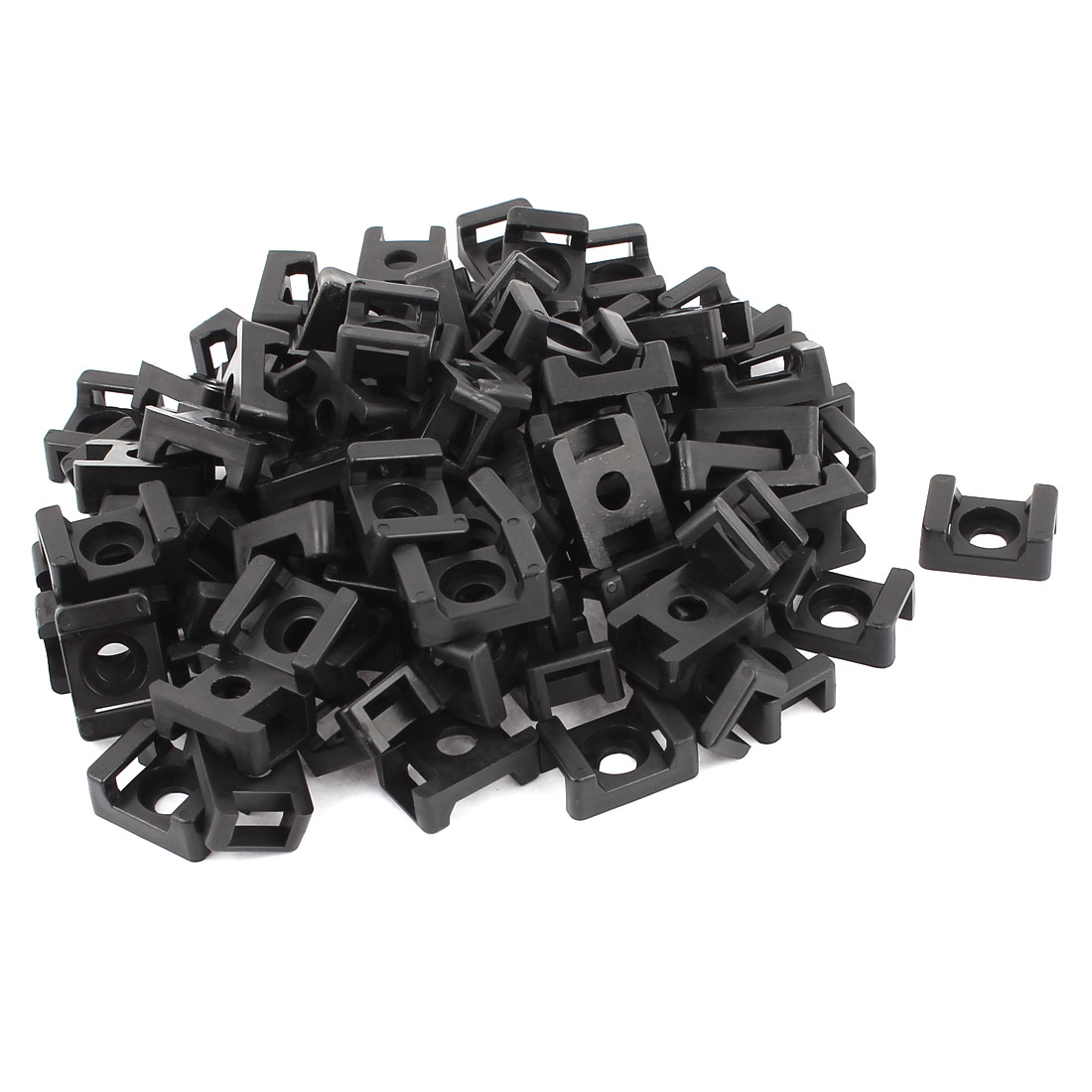 HC-2 Rectangle 9mm Width Cable Tie Mount Base Holder Fixing Saddle 90 Pcs