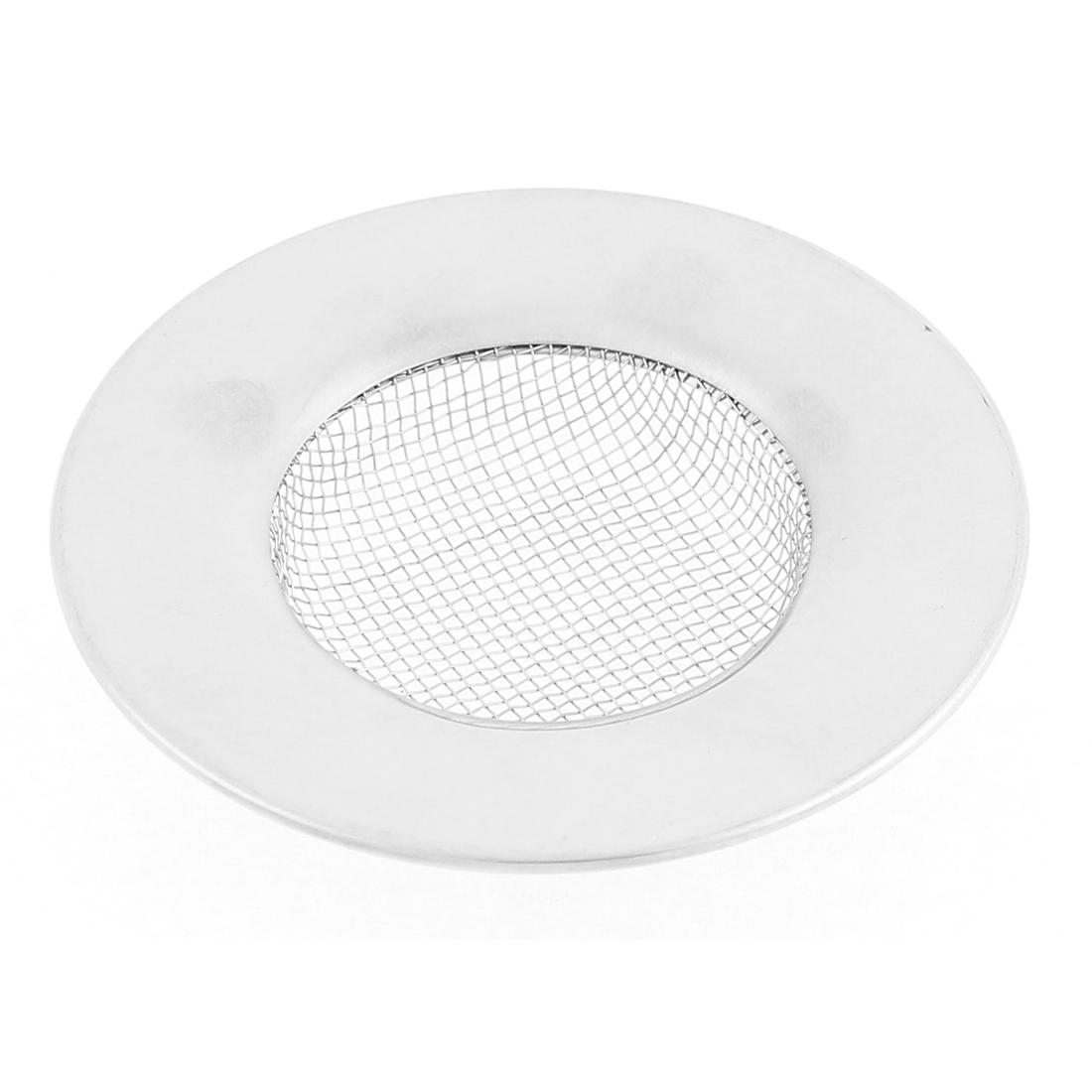 Kitchen 304 Stainless Steel Mesh Hole Sink Drain Strainer 3 Inch Dia Silver Tone