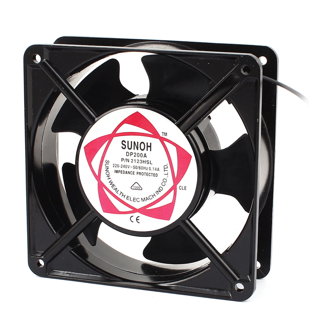 120x120x38mm Plastic Vanes Metal Frame Axial Flow Cooling Fan AC 220V/240V 0.14A