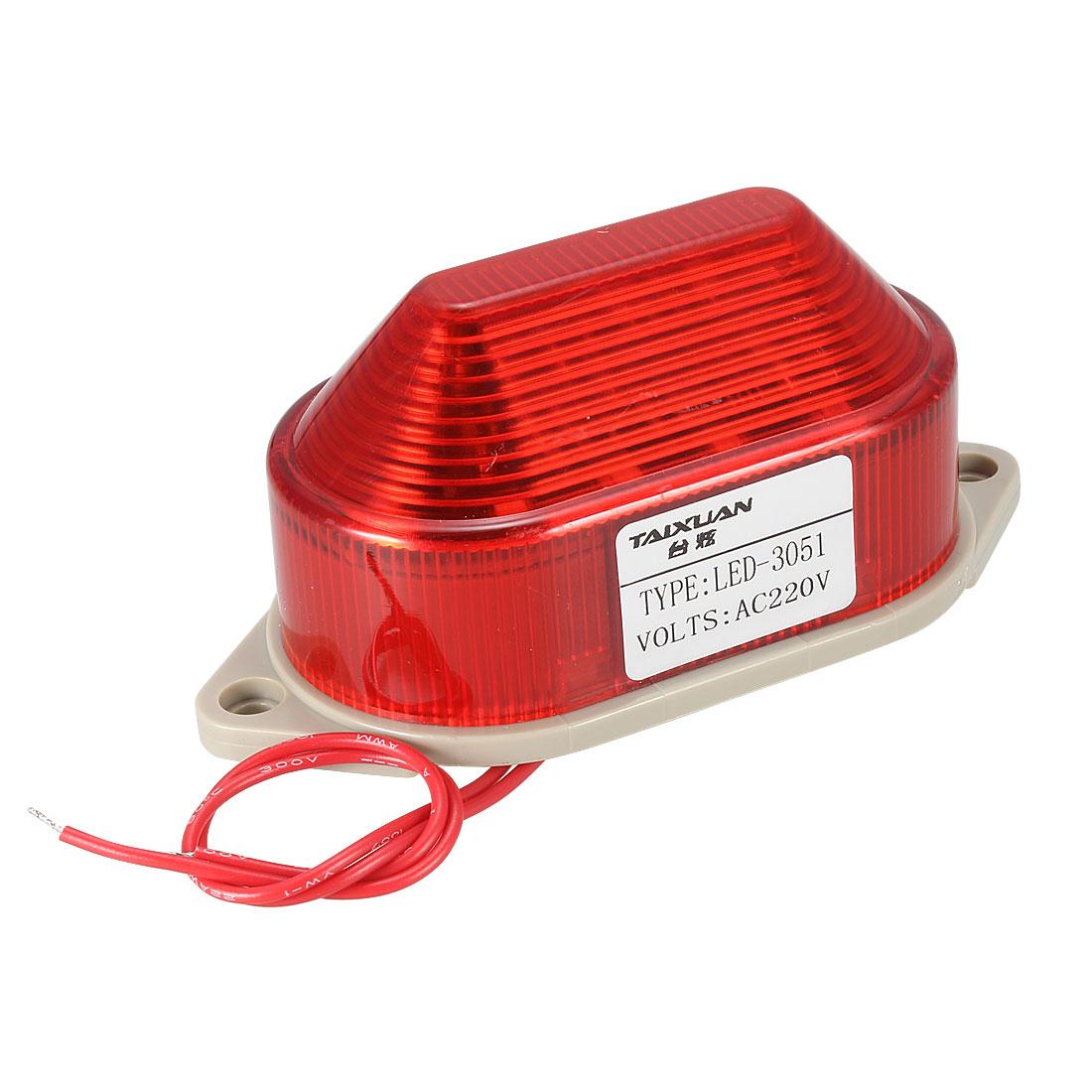 AC 220V 3W School Industrial Emergency Red Flash Warning Light Lamp