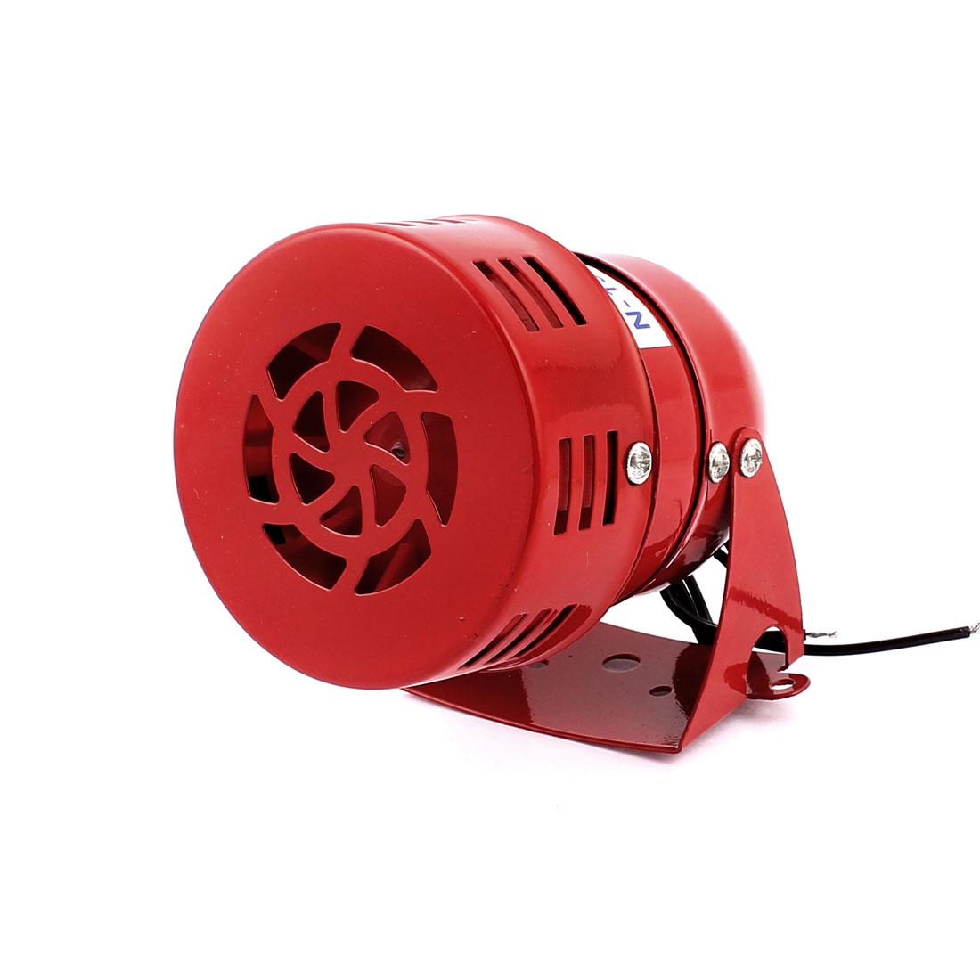 AC 220V 114dB Warning Horn Security Micro Motor Siren Alarm Red MS-190