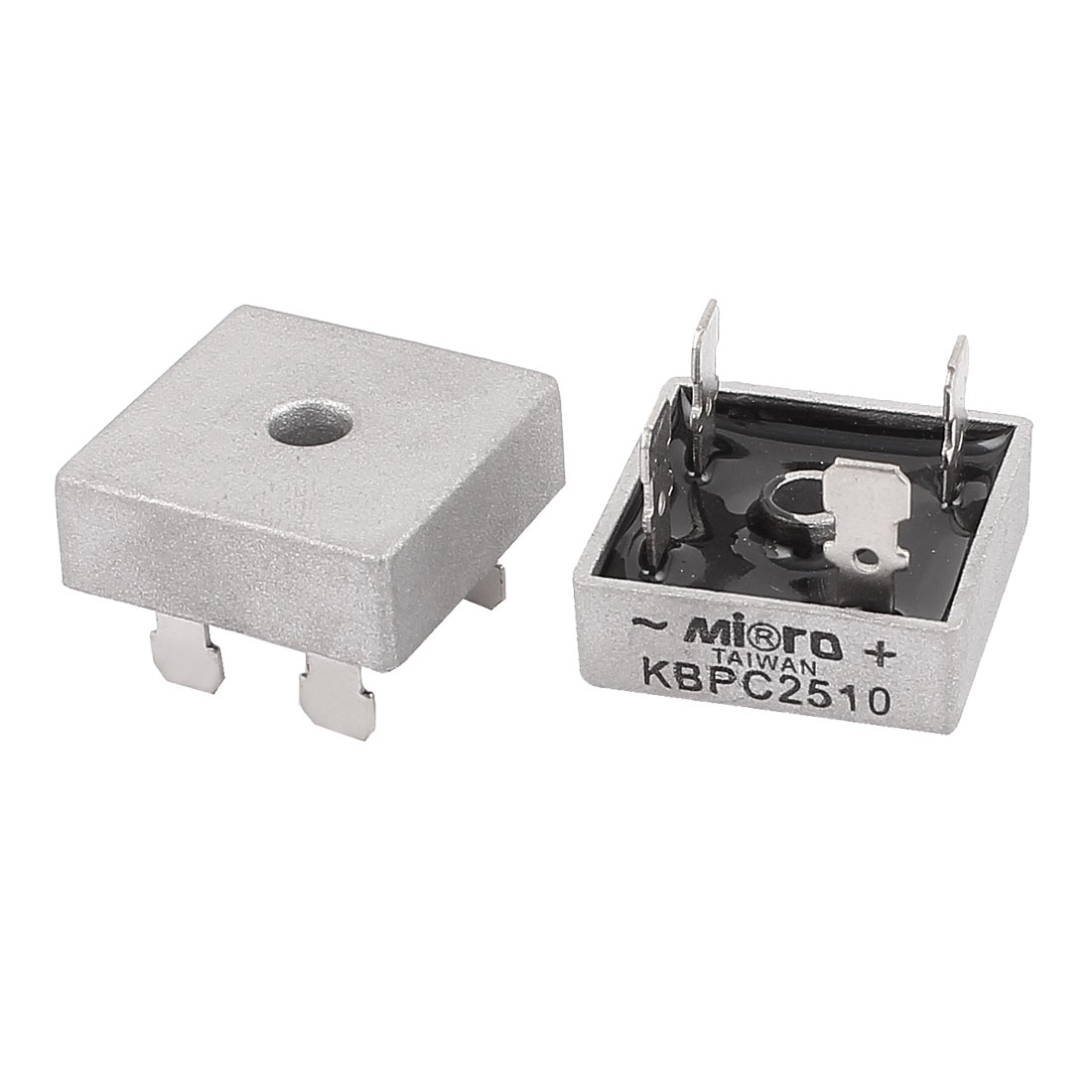 KBPC2510 25A 1000V 4Pin One Phase Semi-Conductor Bridge Rectifier 2PCS