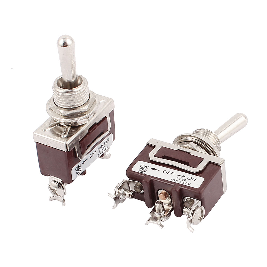 AC 250V 15A SPDT ON/OFF/ON 3 Positions Electric Toggle Switch 2 Pcs