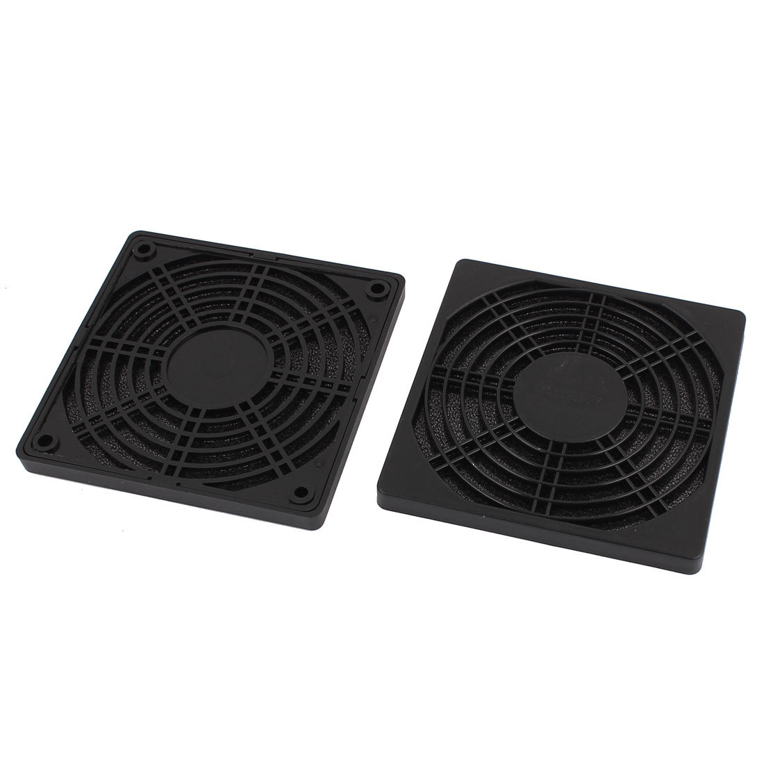 2pcs Plastic Grill Foam Dust Filter for 120x120mm Cooling Guard Fan