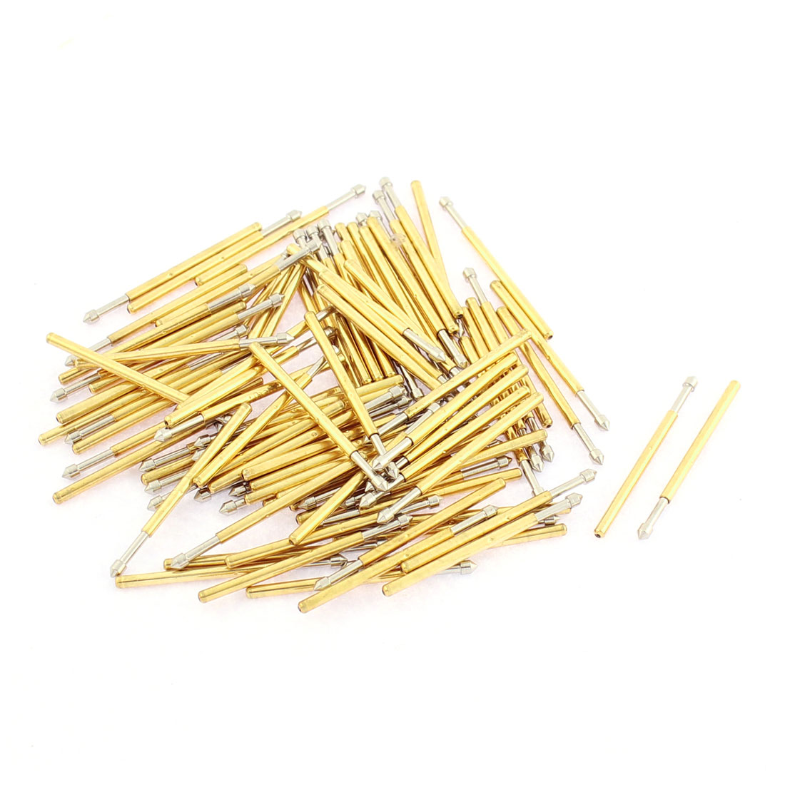 P160E 24mm Length 90 Degree Convex Tip Spring Loaded Test Probe Pin 100Pcs