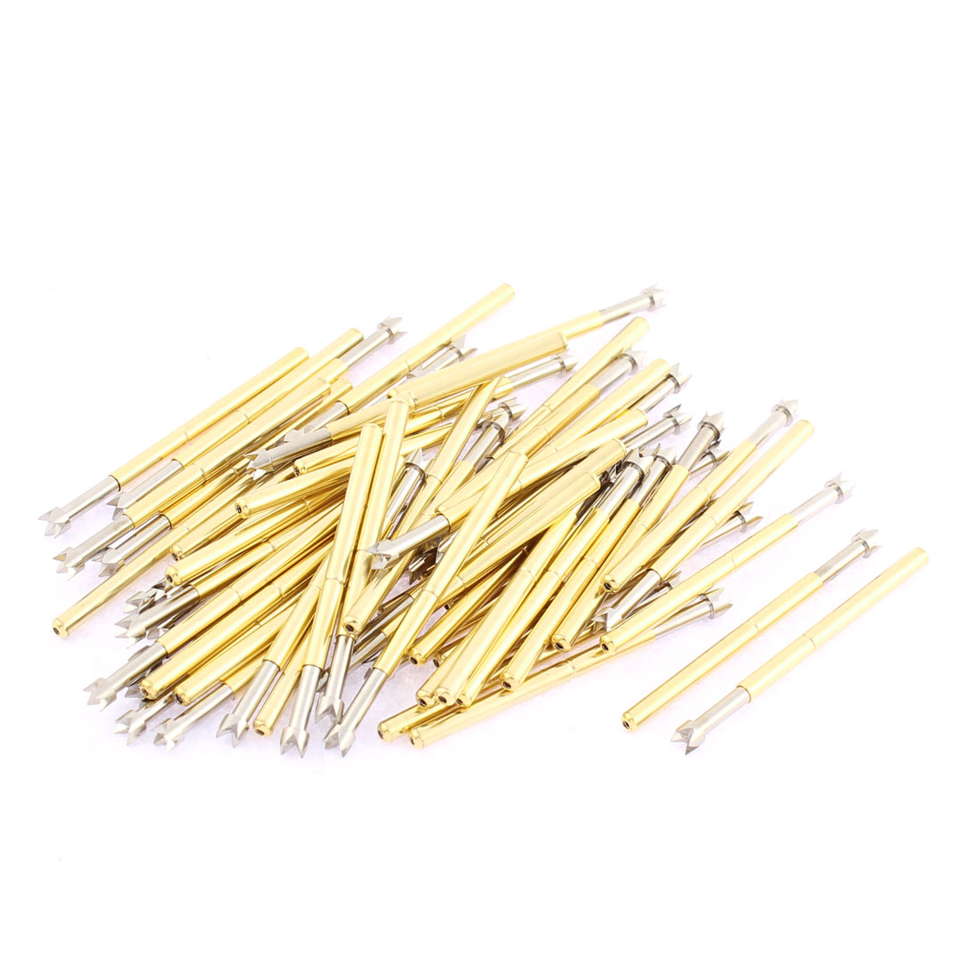 P125-Q2 33mm Length 4-Point Crown Tip Spring Loaded Contact Test Probe Pin 60Pcs