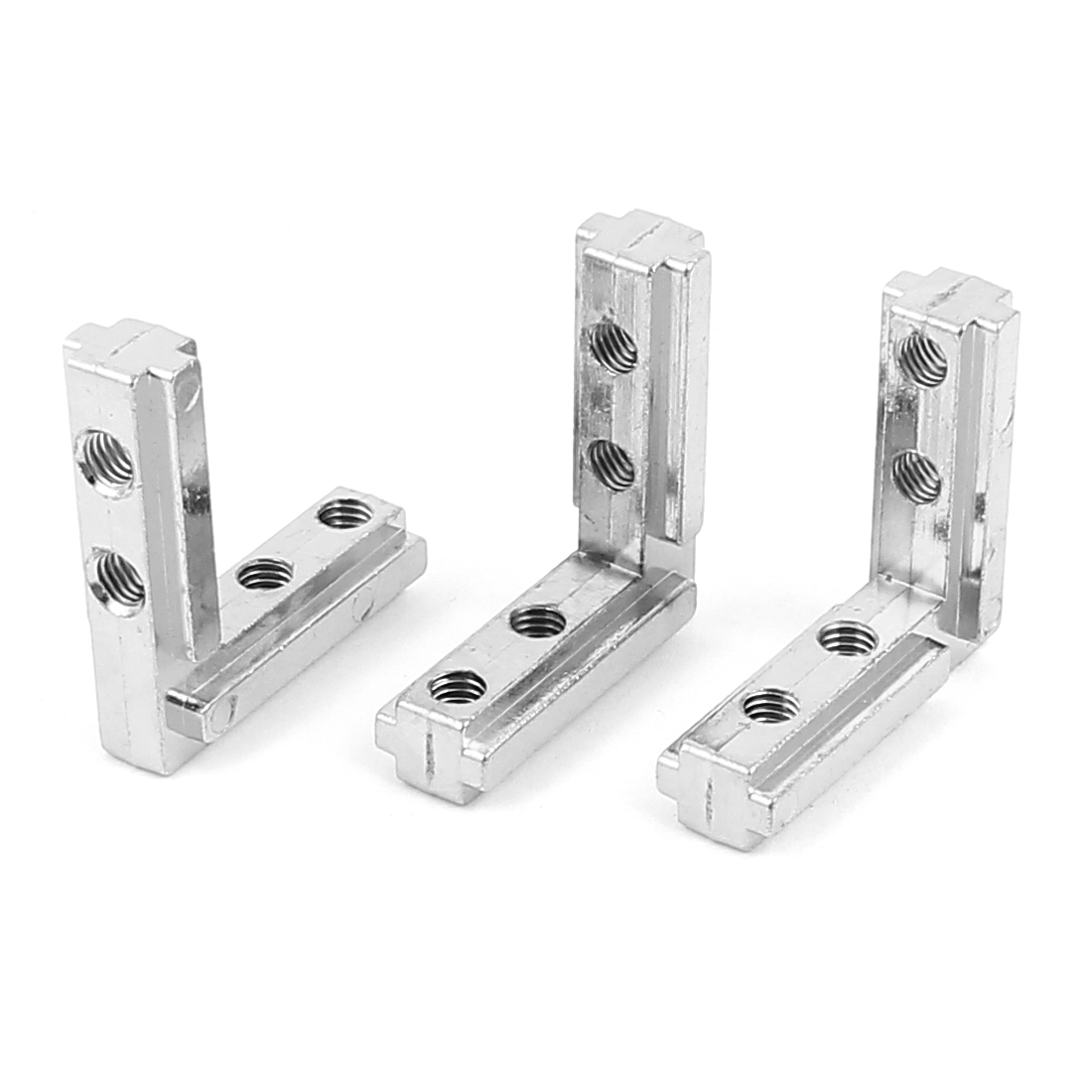 44mm x 40mm L Shape Shelf Support Corner Brace Joint Metal Angle Bracket 3Pcs