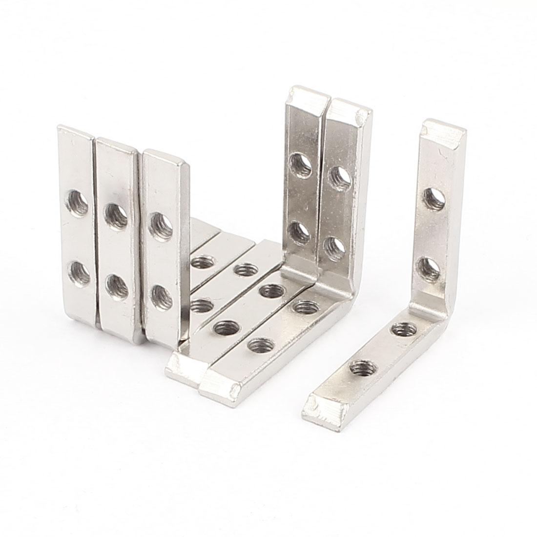 49.5mm x 49.5mm L Shape Shelf Support Corner Brace Metal Angle Bracket 6Pcs