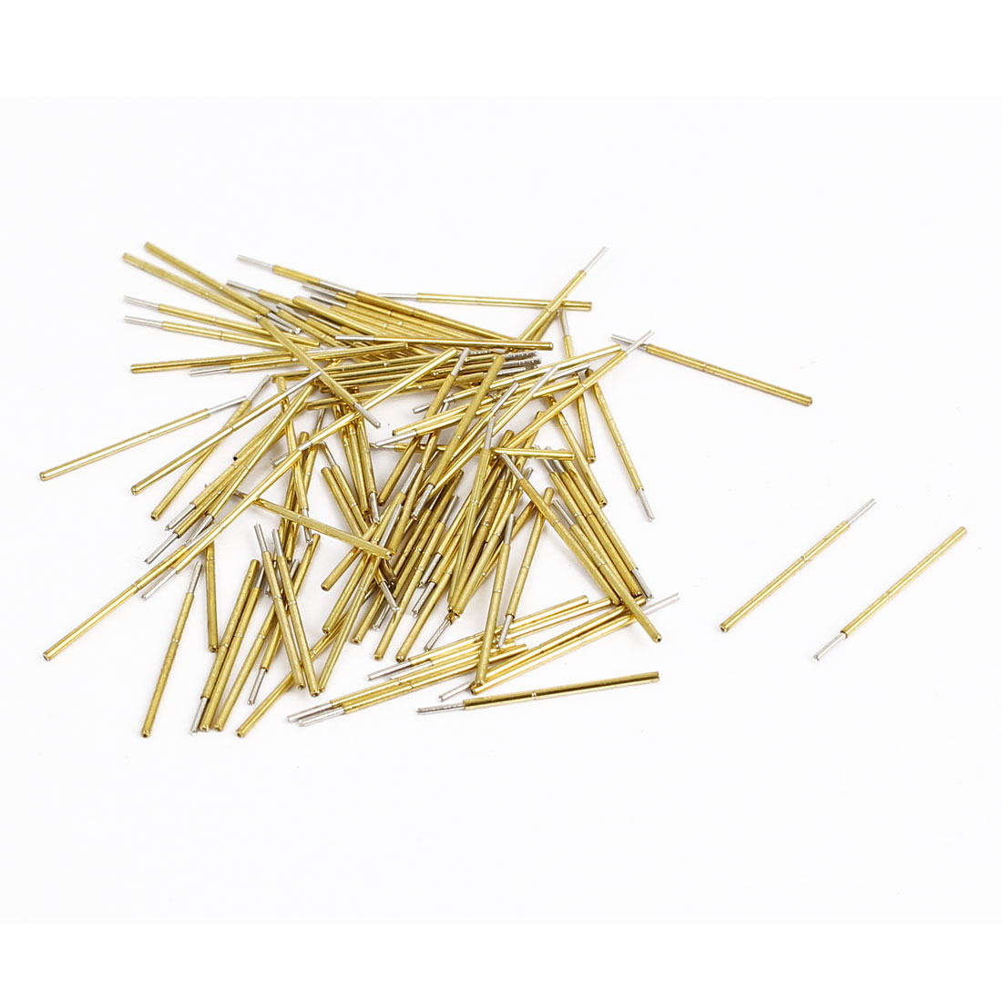 P50Q1 16mm Length 4-Point Crown Tip Spring Loaded Contact Test Probe Pin 100Pcs