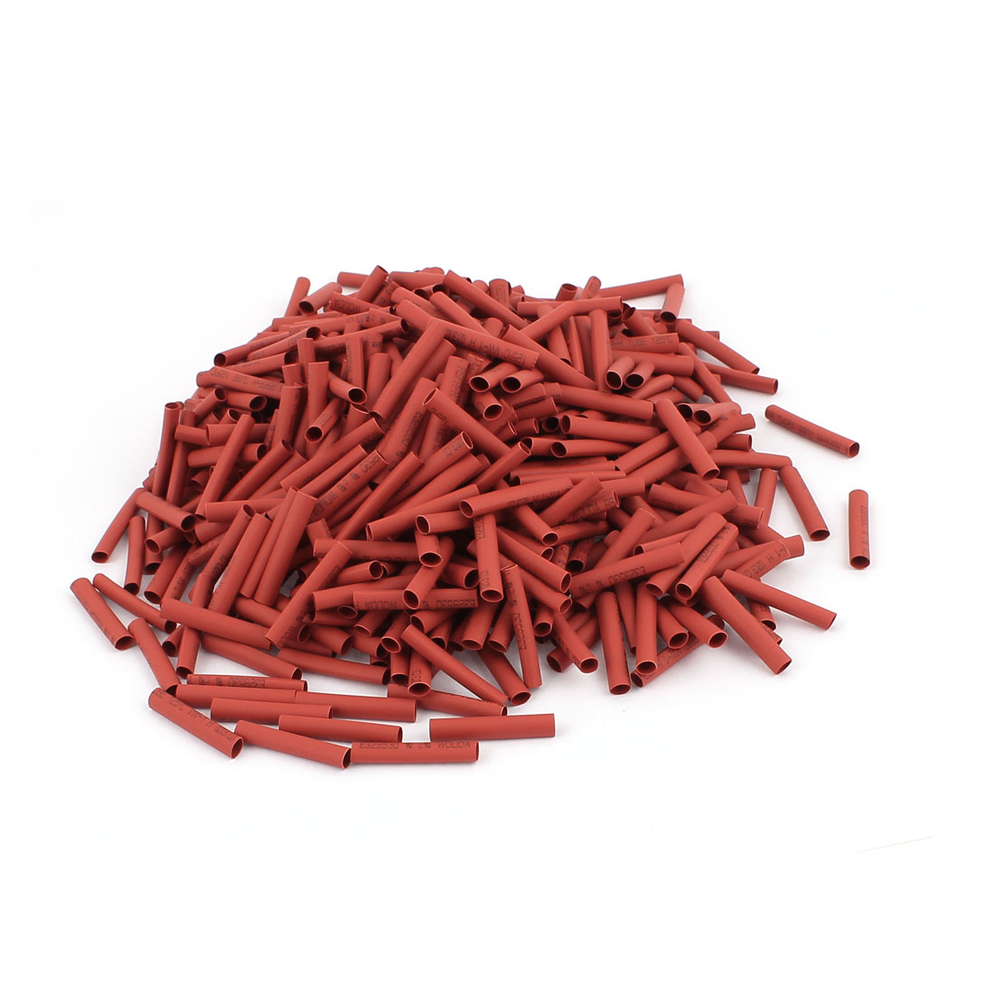 25mm Long Electrical Connection Cable Sleeve Heat Shrink Wrap Tubing Red 800Pcs