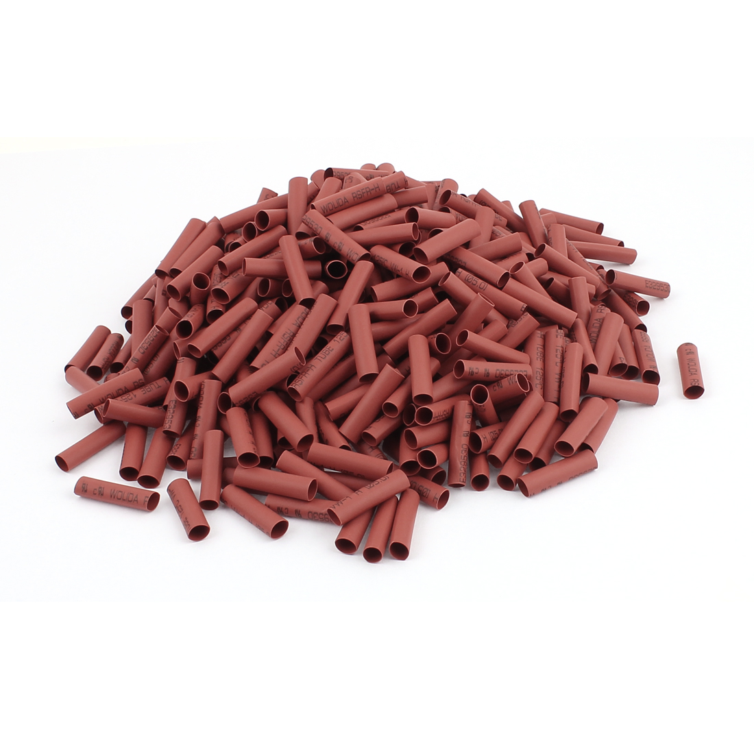 "1"" Length Electrical Connection Cable Sleeve Heat Shrink Wrap Tubing Red 500Pcs"