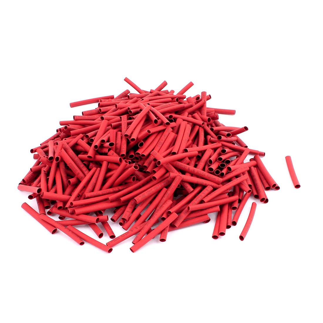 40mm Long Electrical Connection Cable Sleeve Heat Shrink Wrap Tubing Red 500Pcs