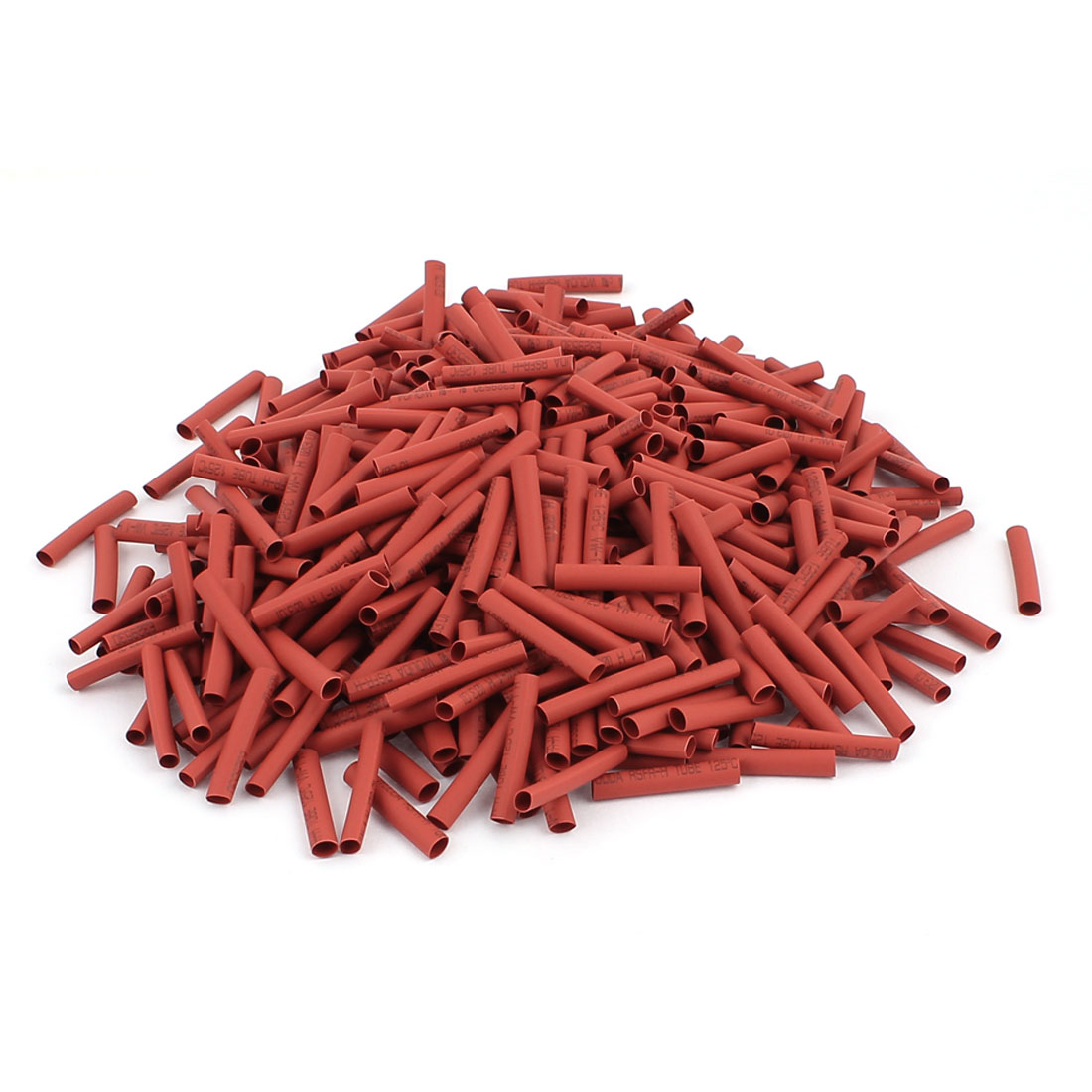 25mm Long Polyolefin Heat Shrink Wrap Tubing Electrical Cable Sleeve Red 500Pcs