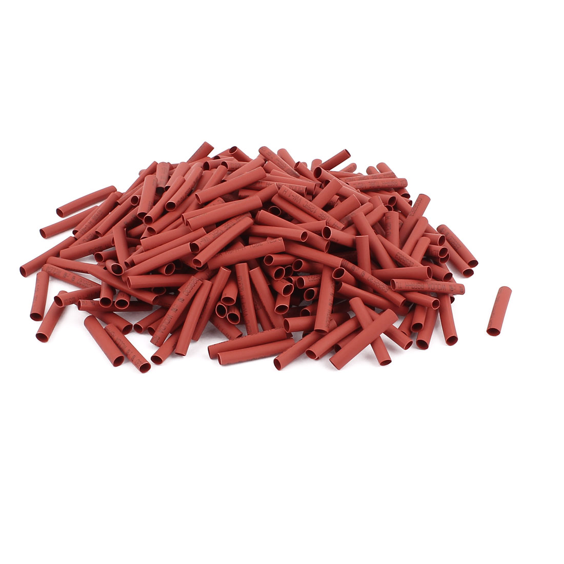 25mm Long Electrical Connection Cable Sleeve Heat Shrink Wrap Tubing Red 350Pcs