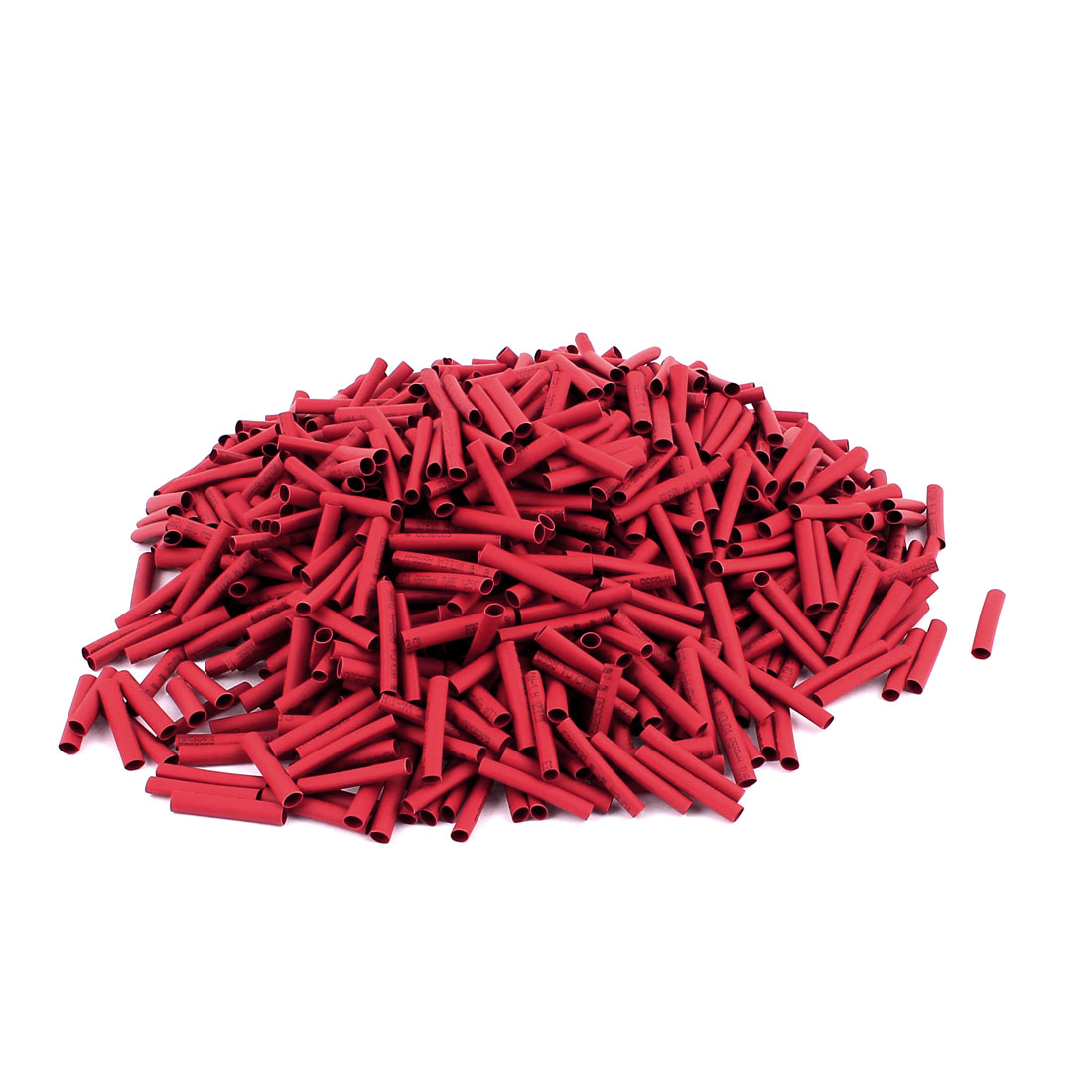 25mm Long Electrical Connection Cable Sleeve Heat Shrink Wrap Tubing Red 1000Pcs