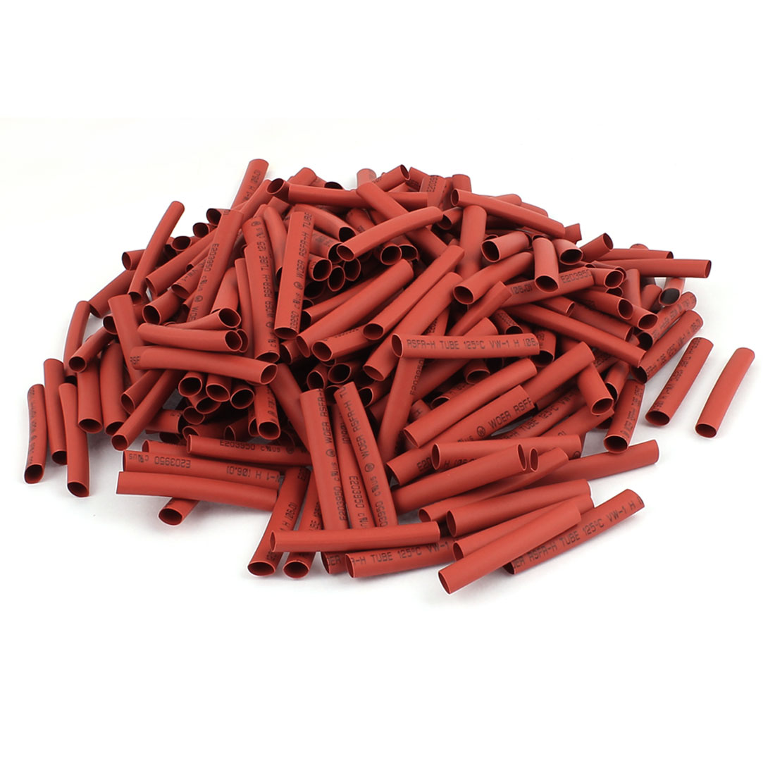 50mm Long Electrical Connection Cable Sleeve Heat Shrink Wrap Tubing Red 300Pcs
