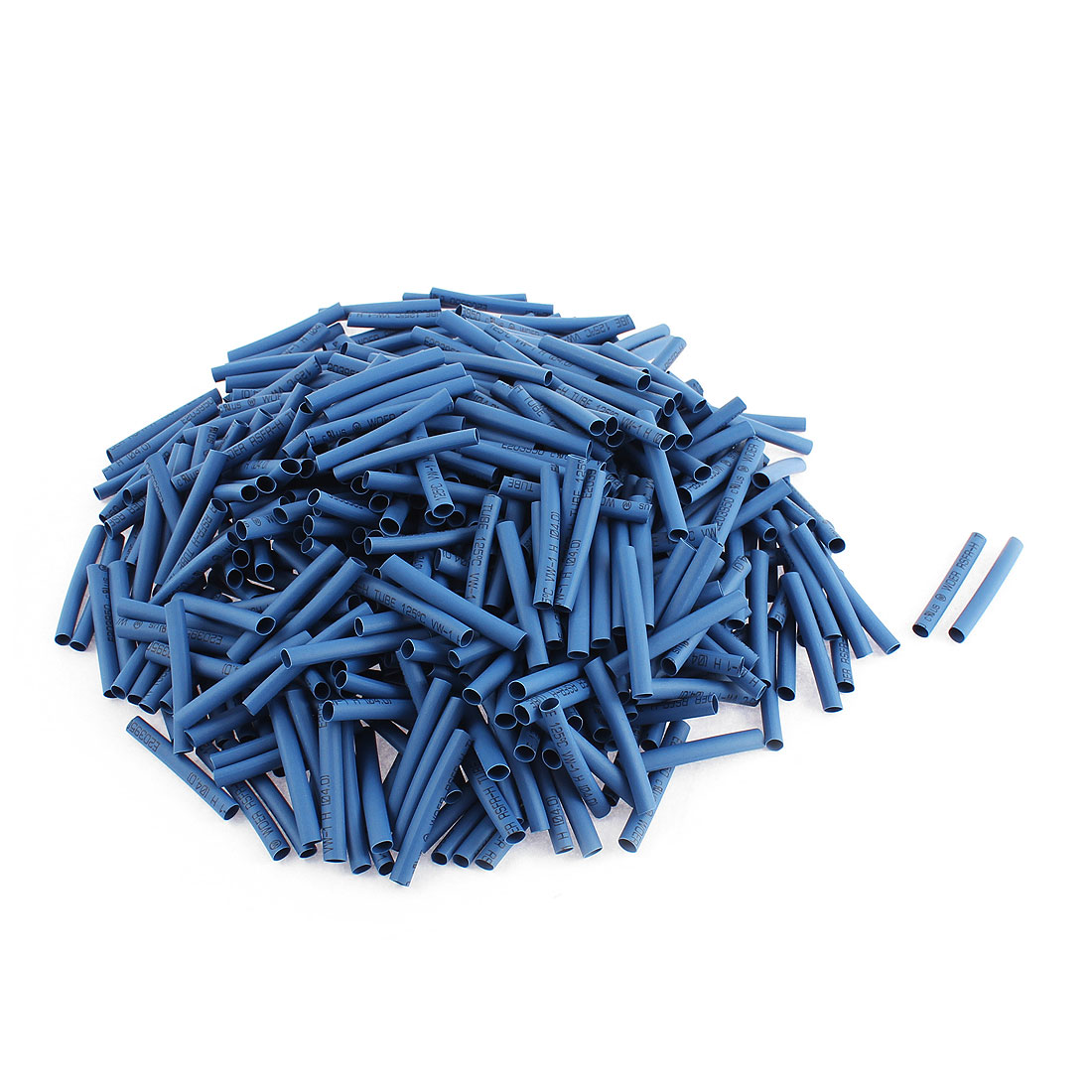 Electrical Connection Cable Sleeve 40mm Long Heat Shrink Tubing Wrap Blue 400Pcs