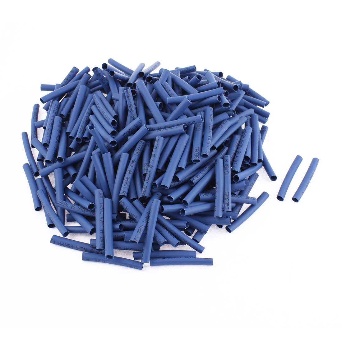 Electrical Connection Cable Sleeve 40mm Long Heat Shrink Tubing Wrap Blue 350Pcs