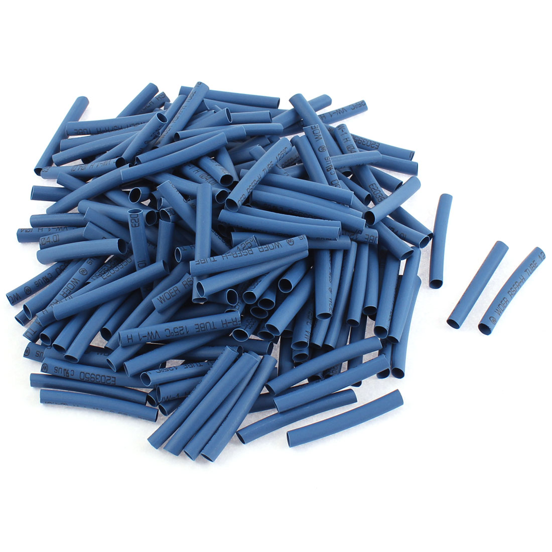 Electrical Connection Cable Sleeve 40mm Long Heat Shrink Tubing Wrap Blue 200Pcs