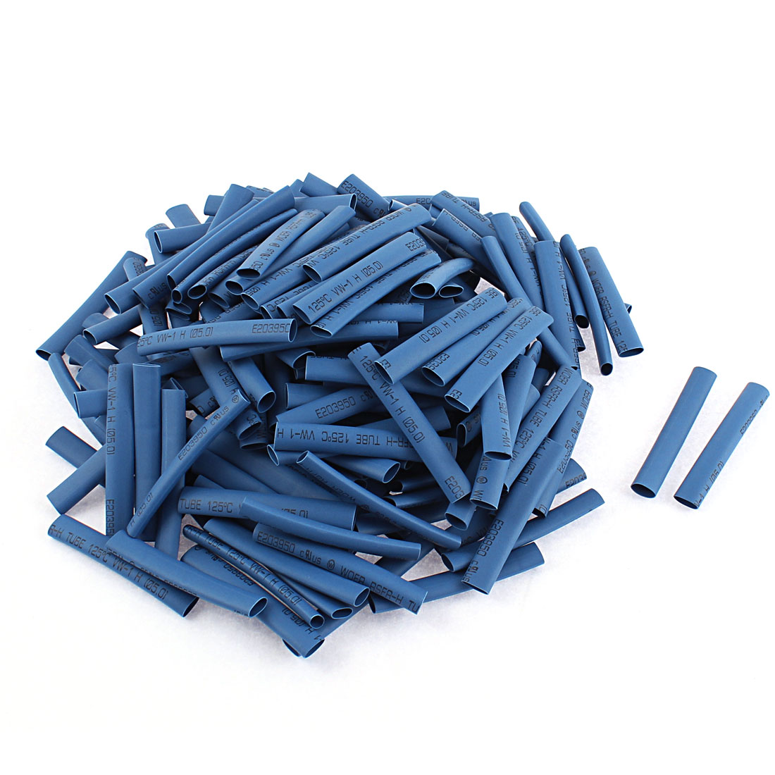 Electrical Connection Cable Sleeve 50mm Long Heat Shrink Tubing Wrap Blue 200Pcs