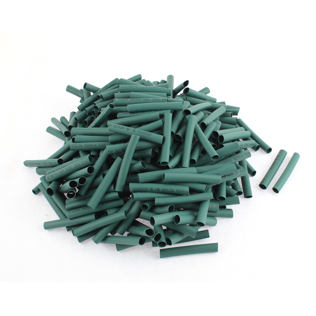 Electrical Connection Cable Sleeve 50mm Length Heat Shrink Tubing Green 300Pcs