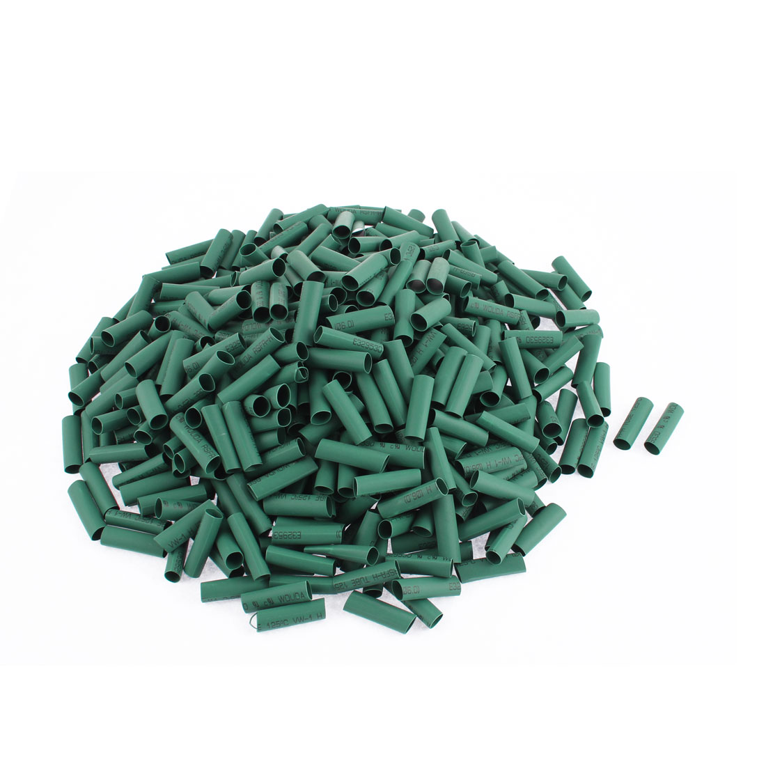 "Electrical Connection Cable Sleeve 1"" Length Heat Shrink Tubing Green 500Pcs"