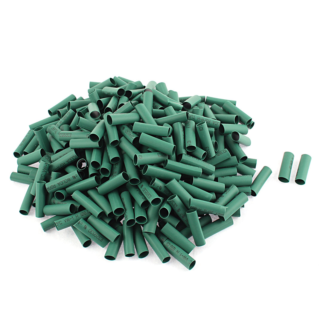Electrical Connection Cable Sleeve 25mm Length Heat Shrink Tubing Green 300Pcs