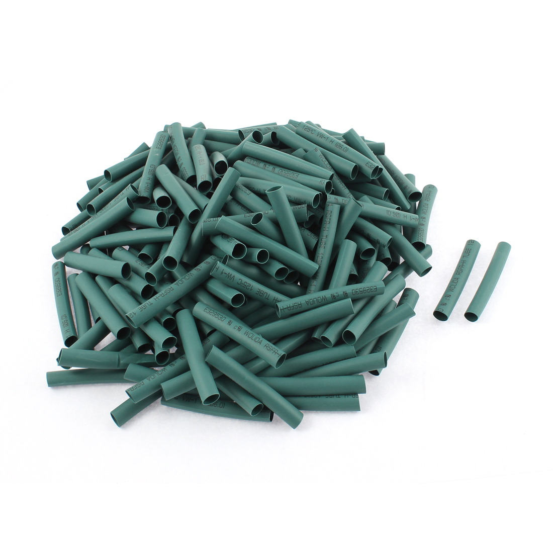 Electrical Connection Cable Sleeve 50mm Length Heat Shrink Tubing Green 200Pcs