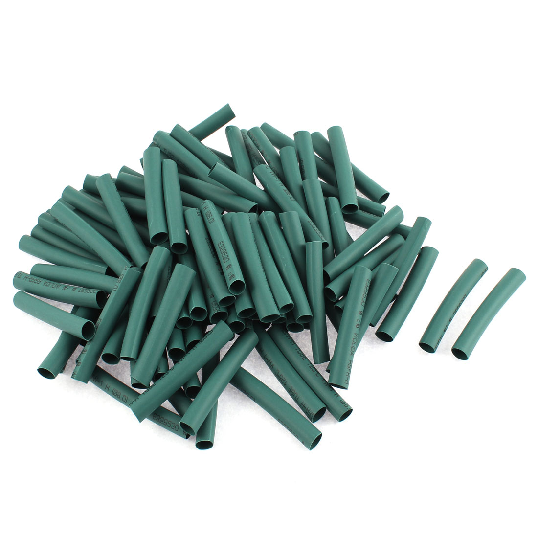 Electrical Connection Cable Sleeve 50mm Length Heat Shrink Tubing Green 100Pcs