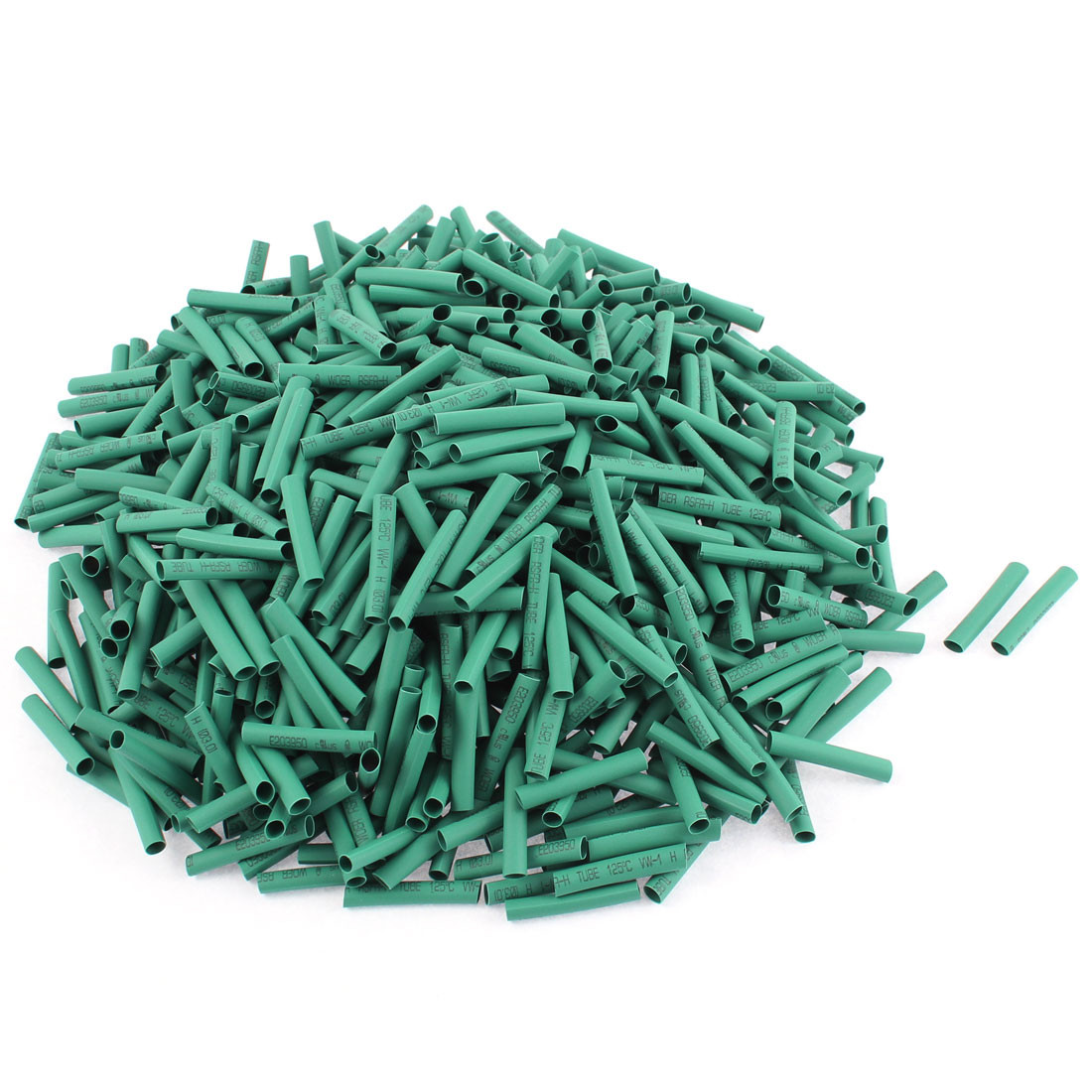 Electrical Connection Cable Sleeve 25mm Length Heat Shrink Tubing Green 800Pcs