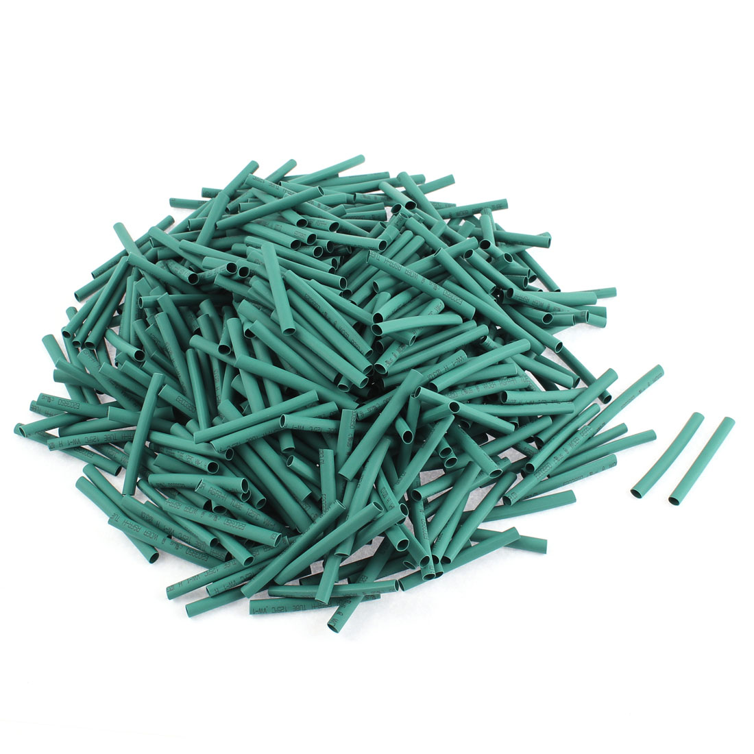Electrical Connection Cable Sleeve 40mm Length Heat Shrink Tubing Green 500Pcs