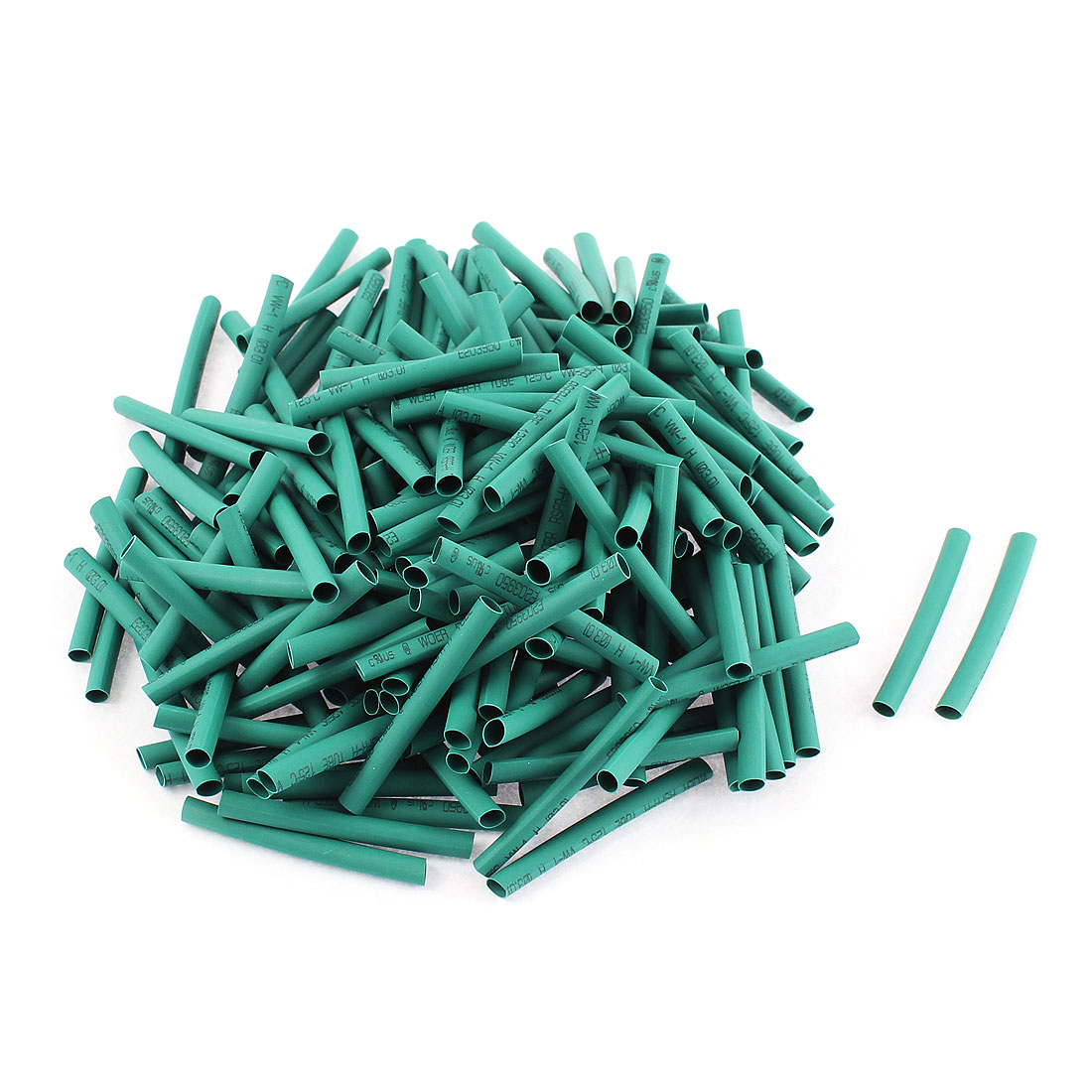 Electrical Connection Cable Sleeve 40mm Length Heat Shrink Tubing Green 200Pcs
