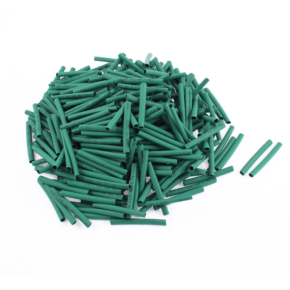 Electrical Connection Cable Sleeve 40mm Length Heat Shrink Tubing Green 350Pcs